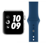 Apple Watch Nike Plus Series 3 Boxed New - GPS - 38mm - Silver Aluminium - Blue Horizon Sport Band