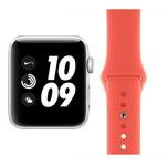 Apple Watch Nike Plus Series 3 Refurbished Good - GPS - 38mm - Silver Aluminium - Nectarine Sport Band
