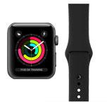 Apple Watch Series 3 Refurbished Good - GPS - 38mm - Space Grey Aluminium - Black Sport Band